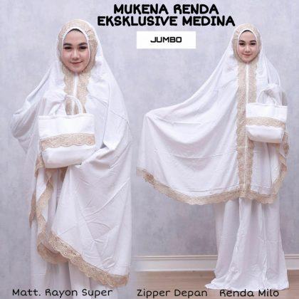 Mukena Putih Elegan, Mukena Putih Mewah. Wa 08156668773